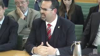 Mr Eric Bush JP at the Foreign Affairs Committee