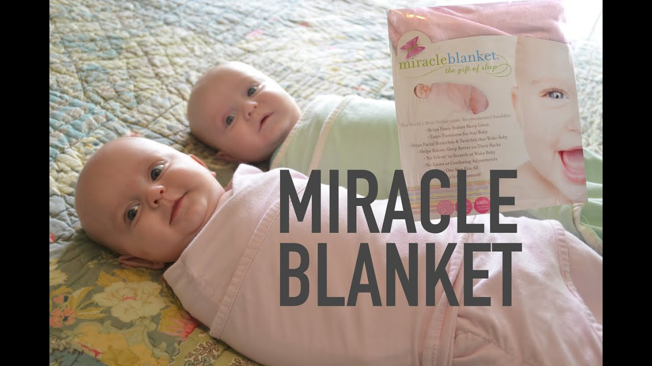 f0a3ef70fe HOW TO SWADDLE TWINS IN MIRACLE BLANKET - WashTV - YouTube