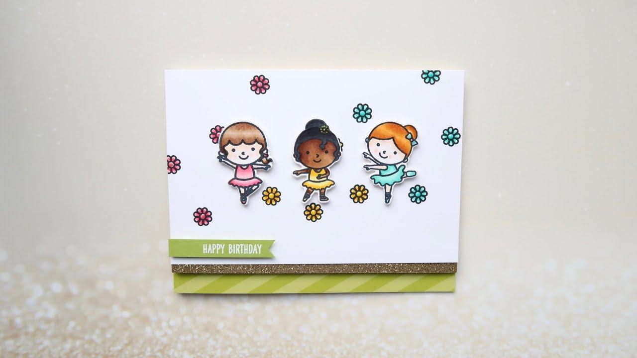 Ballerina Birthday Card Ft Tiny Dancers Sunny Studio Stamps Youtube