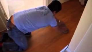 Installing A Vinyl Floor Sheet Maple Wood Pattern