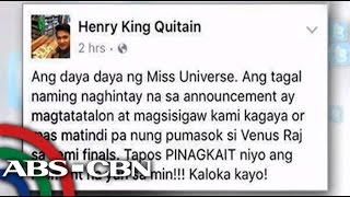 Bandila: Netizen react to Miss Universe 2015 mix-up
