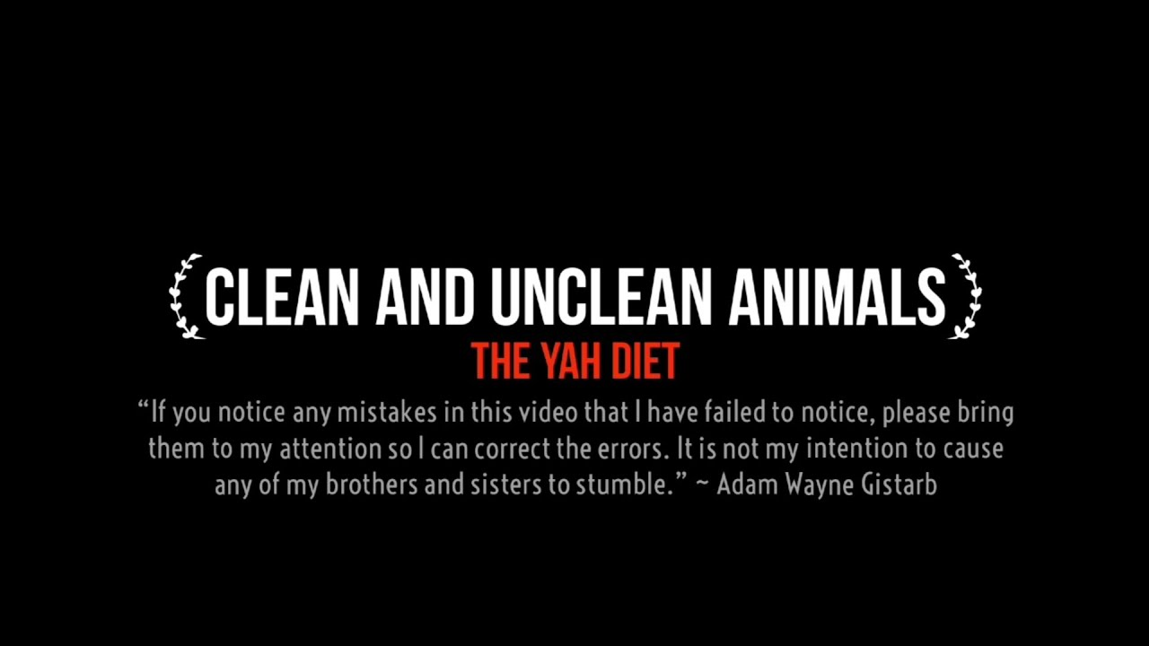 Clean And Unclean Animals
