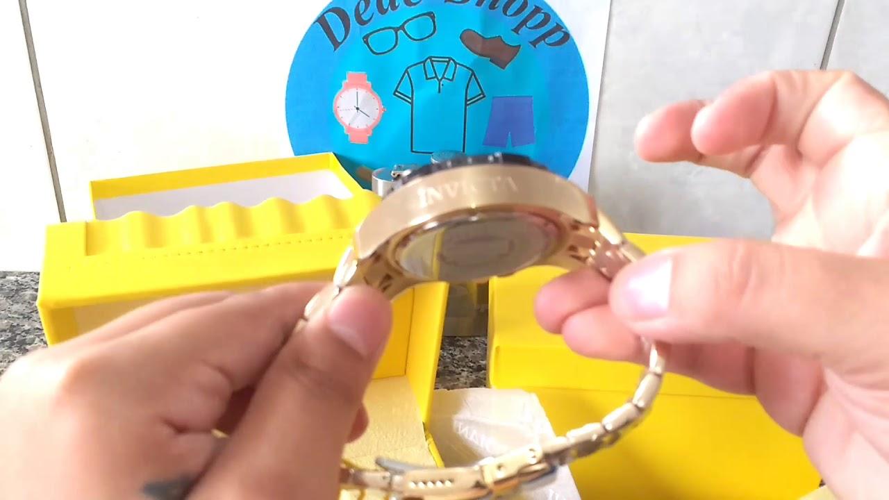 f04a87ba306 ⏺Relógios Invicta Lançamento Pro Diver 22761   24856 Ouro 18K - Originais  Importados. Dedê-Shopp