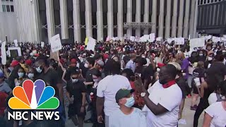 Protesters March In Houston, Paying Hometown Tribute To George Floyd | NBC News NOW