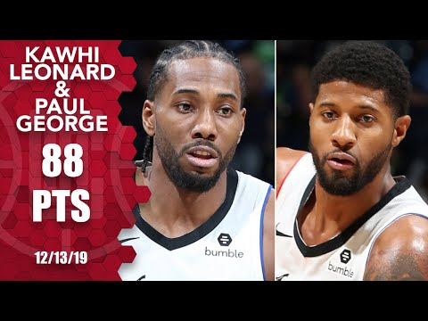 Kawhi Leonard, Paul George go for 88 points in Clippers vs. Timberwolves | 2019-20 NBA Highlights