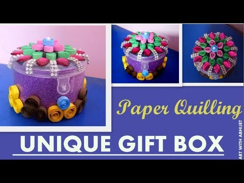 How To Make Paper Quilling Gift Box:  FOR BIRTHDAY GIFT ,Design