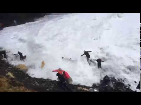 'Idiots': No Sympathy From Bystander as Waves Topple Tourists on Iceland Beach