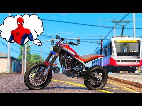 MOTORCYCLES for Kids Spiderman VLOG | Motorbikes w/ Superheroes Cartoon for Children Nursery Rhymes