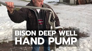 DEMO: Bison Deep Well Hand Pump In Winter