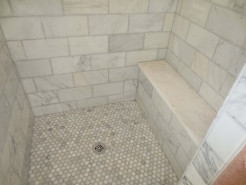 Complete Carrara Marble tile bathroom instalation  time lapse
