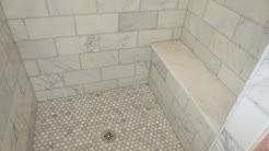 Complete Carrara Marble tile bathroom instalation  time lapse