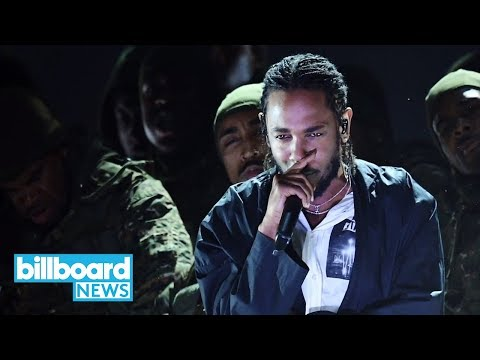 Kendrick Lamar Delivers a Politically-Charged Performance at 2018 Grammys | Billboard News