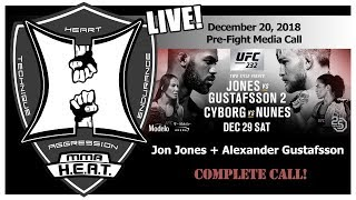 UFC 232: Jones vs Gustafsson 2 Pre-Fight Media Call (LIVE!)