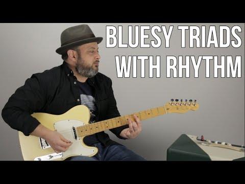 Blues Guitar Lesson Using Tasty Triads