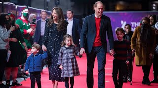 video: Cambridges make red carpet family debut as they attend London panto