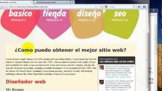 Como crear una pagina web completa en HTML - 4