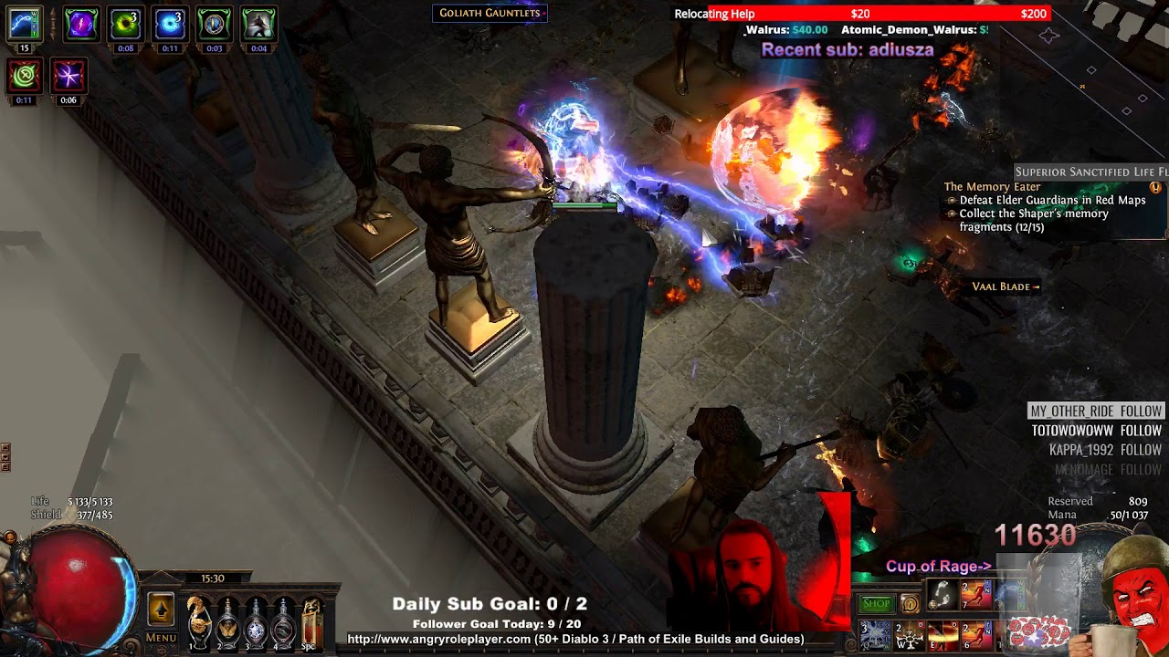 arc traps saboteur vs hall of the grandmasters path of exile 3 3