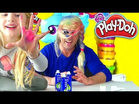 PLAY DOH  My Little Pony - Alicia colorie  son Papa
