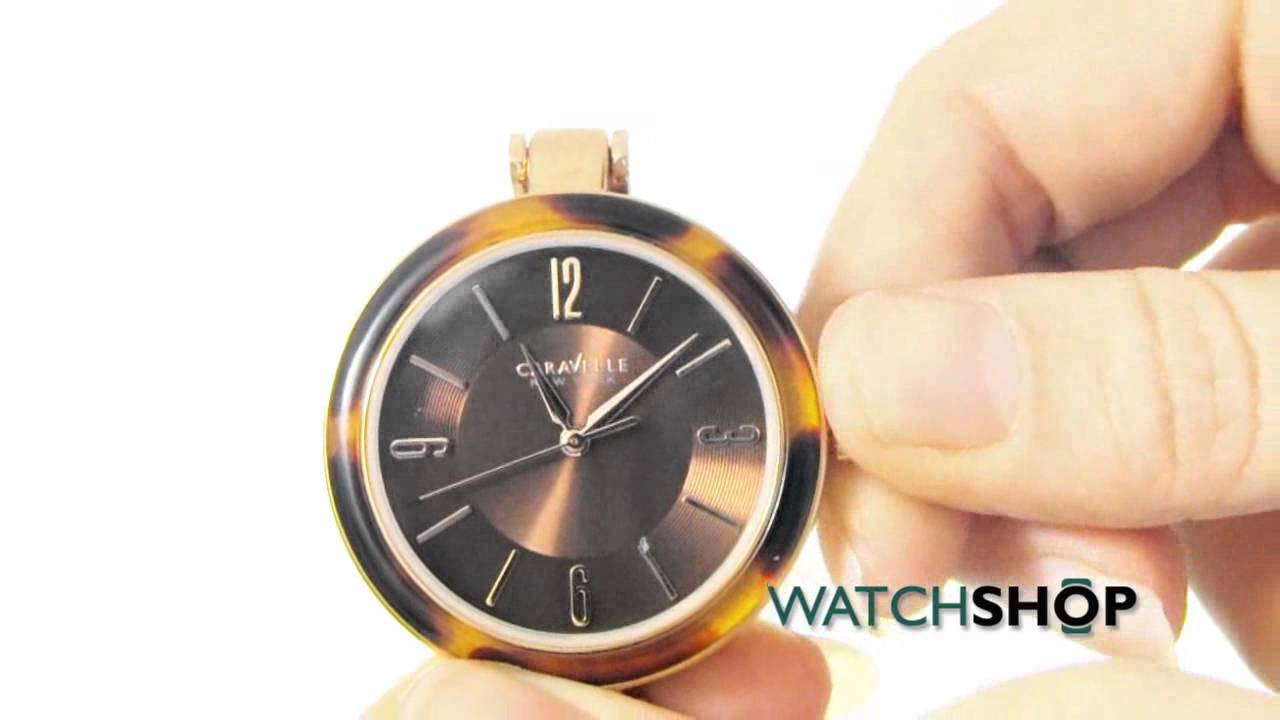 ee9684d2b Caravelle New York Ladies' Bangle Watch (44L137) - YouTube