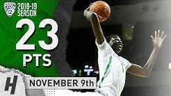 Bol Bol Full Highlights Oregon vs Eastern Washington Eagles 2018.11.09 - 23 Pts, 12 Reb, 5 Blocks