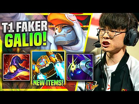 FAKER SHOWS HOW INSANE IS GALIO WITH NEW ITEMS! - T1 Faker Plays Galio Mid vs Lucian! | Preseason 11