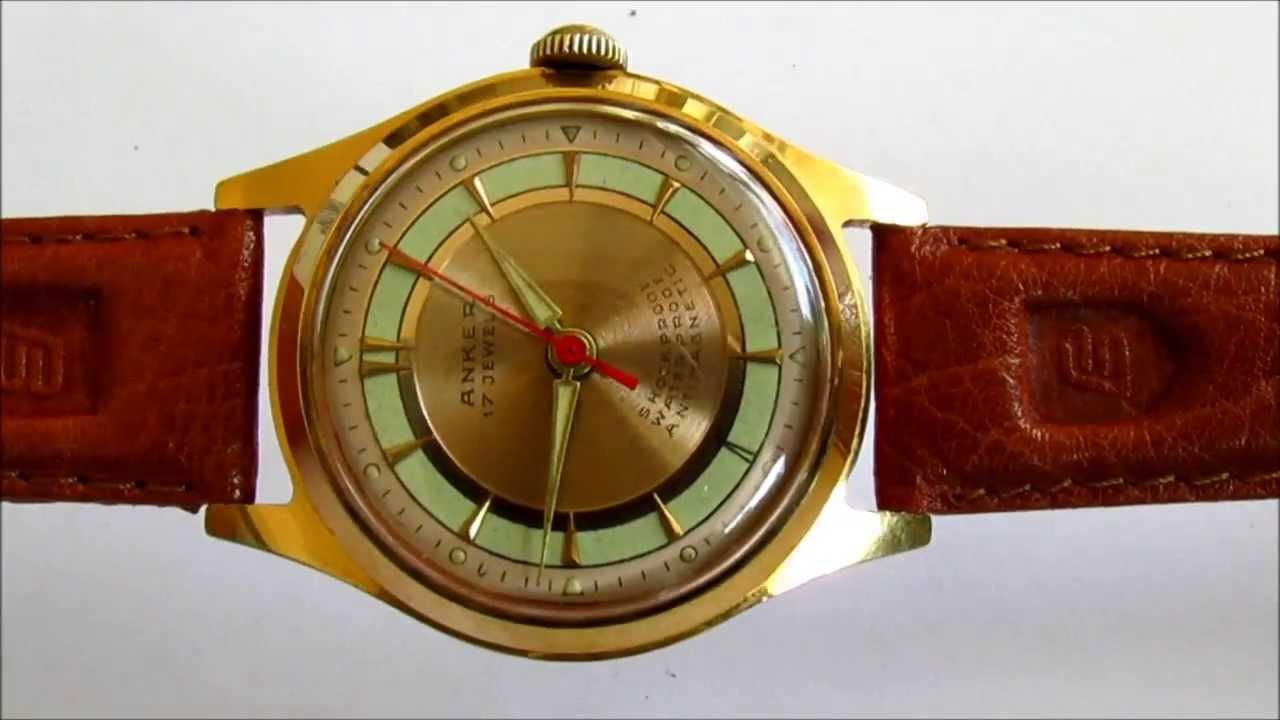 Anker Vintage Wristwatch 1960s Youtube
