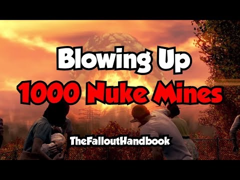 Fallout 4 - BLOWING UP 1000 NUKE MINES! (Huge Explosion)