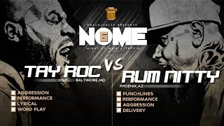TAY ROC VS RUM NITTY SMACK/ URL RAP BATTLE