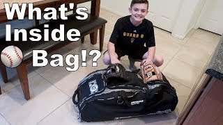 What's in Mason's New Baseball Bag?