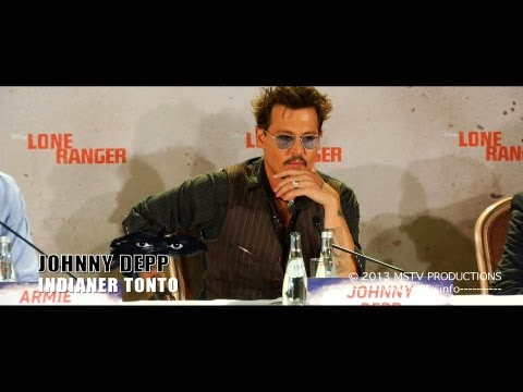 Lone Ranger: Johnny Depp: Pressekonferenz Berlin: Komplett (original language)