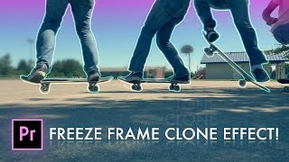 How to FREEZE FRAME CLONE TRAIL Effect in Adobe Premiere Pro (CC 2017 Tutorial + Photoshop)