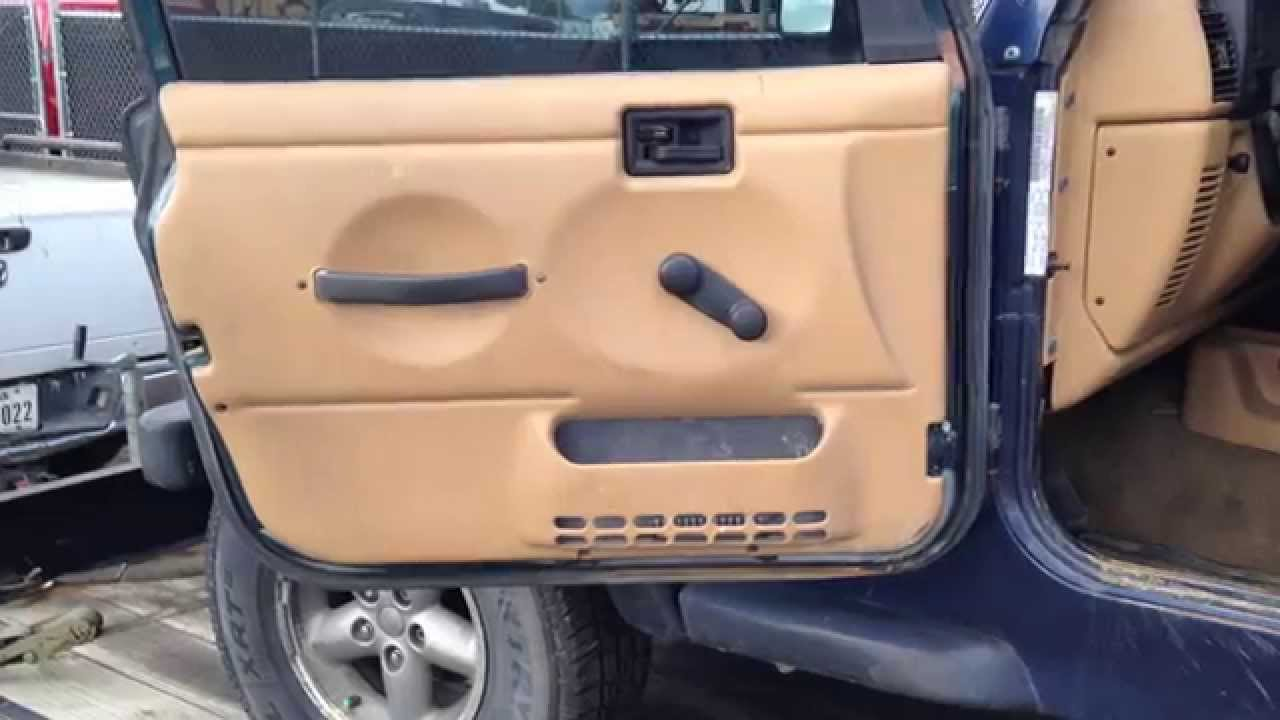 1997 2006 Jeep Wrangler Tj Black Factory Oem Full Steel Doors For Sale Overall Condition Youtube