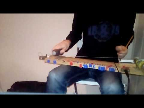 ZZ Top Jesus just left Chicago - Diddley bow and acoustic bottle bass cover