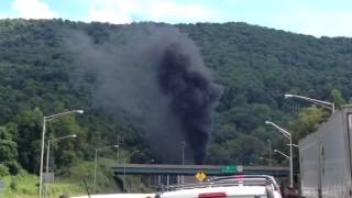 East River Mountain Tunnel Fire 7/25/2014 WV Side