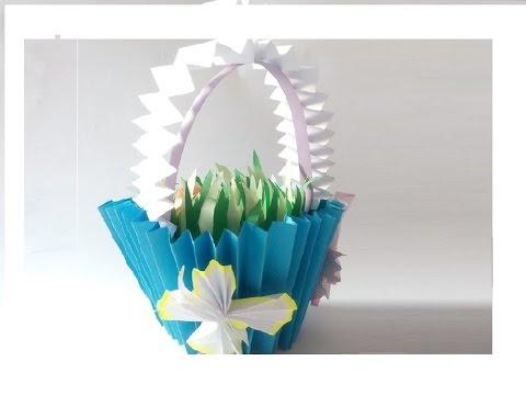 diy osterk rbchen oder osterkorb basteln video tutorial ideen f rs osterdeko youtube. Black Bedroom Furniture Sets. Home Design Ideas