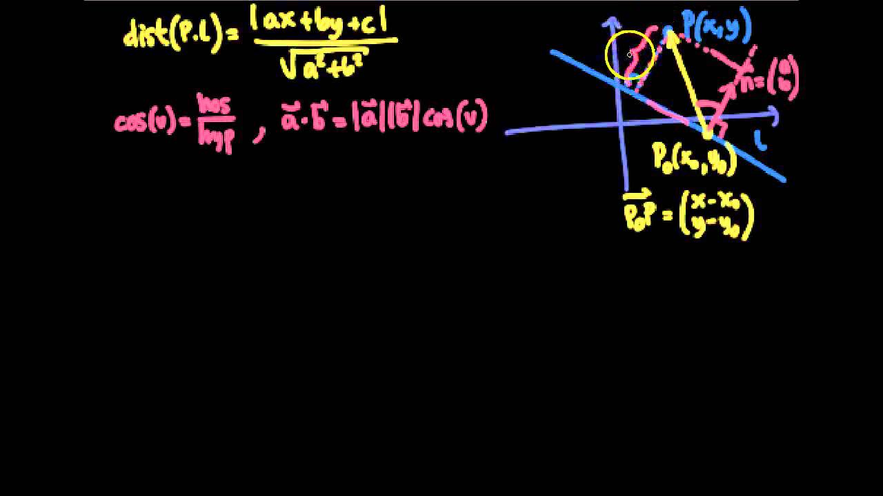 Distanceformlen - Vektorer i 2D