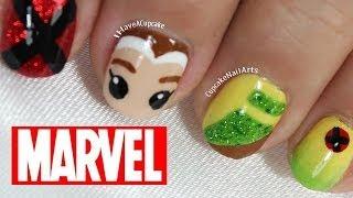 Marvel Nail Art - Rogue