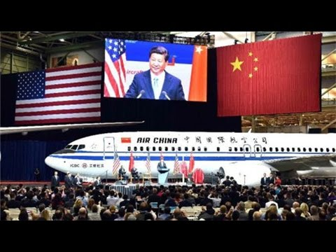 Chinese president visits Boeing's factory in Seattle