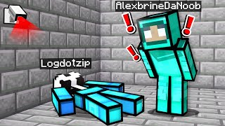 noob Girl tries AMONG US in Minecraft... (super sus)