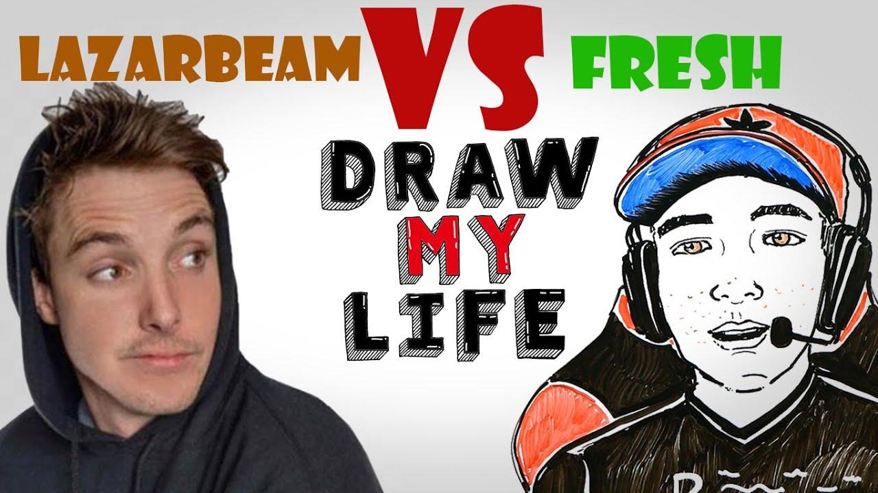 Draw My Life : LazarBeam VS Fresh