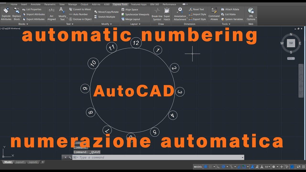 Numerazione Automatica con AutoCAD - Automatic numbering