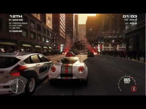 GRID 2 / Live Gameplay ft. Indianapolis, Chicago, Barcelona and Drift [HD]