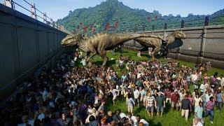 30 INDOMINUS REX vs 2000 PEOPLE - Jurassic World Evolution