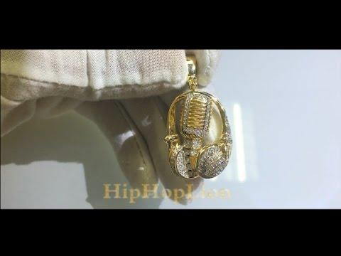2017 NEW Men Women Charm Headset Pendants Jewelry Gifts Bling Earphone Headphone Hip Hop Music Micro