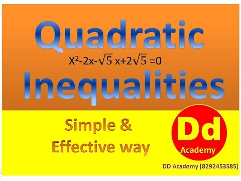 YouTube Presentation on Quadratic Inequalities in Hindi for Bank fastest fast