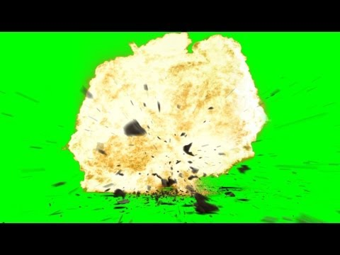Explosion with Debris ground Crack an Sound - free green screen thumbnail