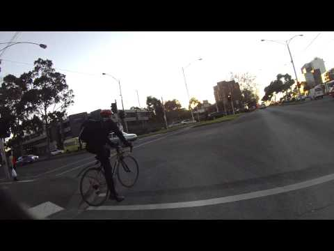 What not to wear when cycling at sunset