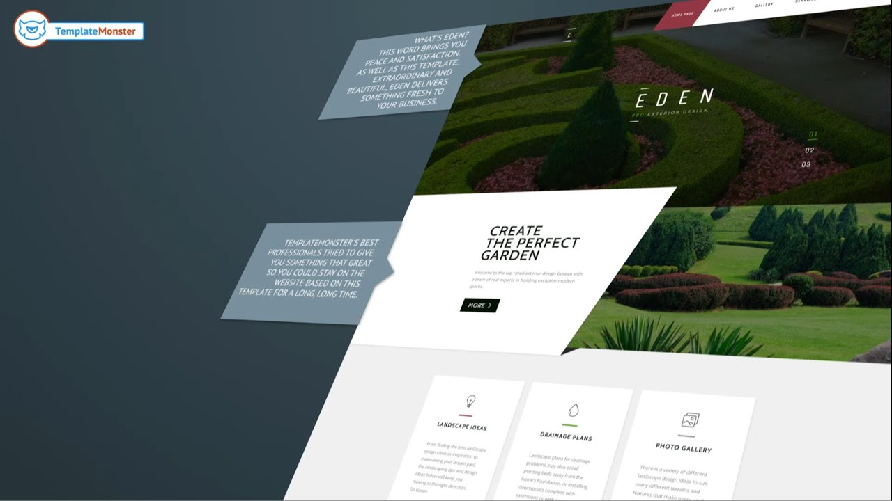 Beau Garden Design Responsive Website Template #58440   YouTube