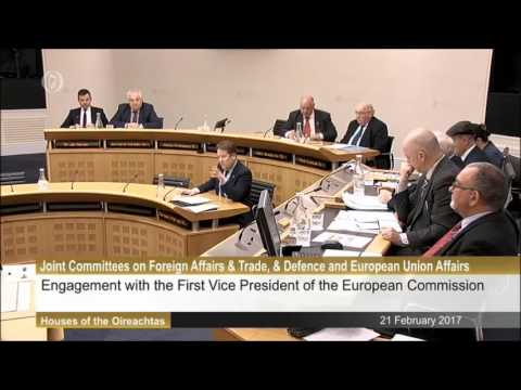 Joint Committee on EU Affairs meeting with Frans Timmermans