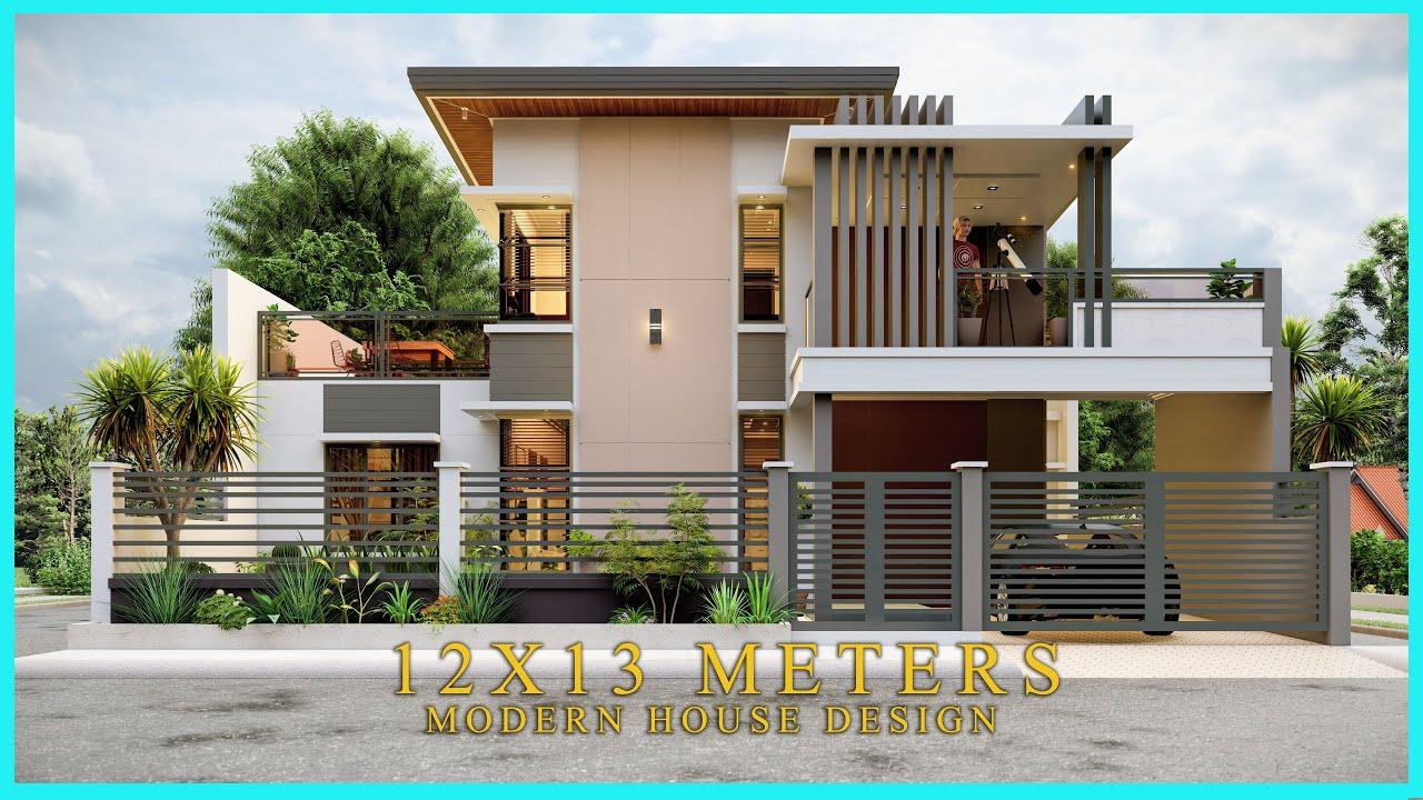Two Storey 3 Bedroom Modern House Design Youtube